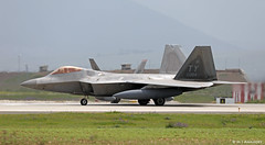 United States Air Force Lockheed F-22A Raptor TY/05-4084, 95th FS departing Morón AFB/LEMO (Mosh70) Tags: morónairbase lemo unitedstatesairforce unitedstatesairforceeurope lockheed f22araptor f22a 95thfs 95fs tyndall ty