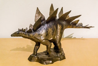 Bronze Sculpture of a Stegosaurus