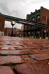 Distillery District (Rackelh) Tags: lowangle architecture building distillery clock road history toronto canada