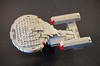 Lego Enterprise D top (Paulygons) Tags: star trek ncc1701 enterprise galaxy micro mini next generation lego moc spaceship tng science fiction
