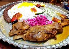 Homayouniiii (afs.harp) Tags: traditional food rice meat delicious kebab kabob iranian restaurant copper tray