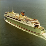 CND 24.705 - Cook Strait Ferries - Arahura - First Voyage - Decks packed with passengers (1983) thumbnail