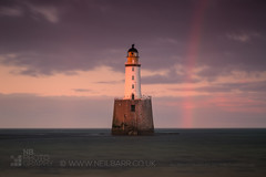 Rattray Head Lighthouse (GenerationX) Tags: aberdeenshire barr canon6d neil oldrattray rattray rattrayhead rattrayheadlighthouse scotland scottish beach birds clouds gloaming landscape lighthouse pink rainbow sand sea seascape sky sunsetrainbow water unitedkingdom gb