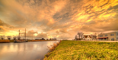 Floating boat. (Alex-de-Haas) Tags: 11mm d850 dutch hdr holland irix nederland nederlands netherlands nikon noordholland noordhollandschkanaal schoorldam avond beautiful beauty boat boot canal cloud clouds evening hemel kanaal landscape landschap longexposure lucht mooi sailboat skies sky sundown sunset water winter wolk wolken zeilboot zonsondergang