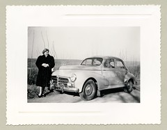 "Peugeot 203 (Vintage Cars & People) Tags: vintage classic black white ""blackwhite"" sw photo foto photography automobile car cars motor peugeot203 peugeot woman lady fashion 1950s fifties nylonstockings stockings fur furcoat pelz pelzmantel pumps heels winter landscape sunshine sunlight"
