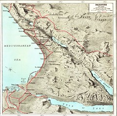 The Middle East - 1920 topographical map - the main railway lines (HISTORICAL RAILWAY IMAGES) Tags: palestine railways egypt syria lebanon arabia middleeast map jerusalem haifa wwi sinai israel cairo damascus amman suez hedjaz מזרחתיכון מפה ישראל רכבת