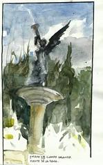 Fuente de la Fama. 1st. May (Félix Tamayo) Tags: moleskine watercolor acuarela campogrande valladolid fuentedelafama