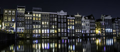 Midnight Canal Reflections (Charles Patrick Ewing) Tags: canal canals water waterside landscape landscapes sky midnight night nighttime lowlight reflection reflections pretty architecture lights color colors light outdoor nature natural amsterdam holland netherlands scenic beautiful fave faves new all everything