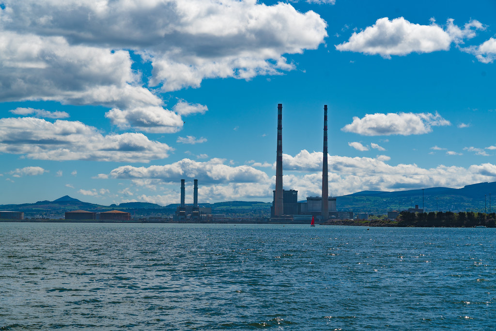 THE POOLBEG STACKS [AS SEEN FROM CLONTARF ROAD IN DUBLIN]-139847