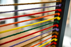 Strings (G Reeves) Tags: nikon nikond810 garyreeves abstract colour inside indoors internal interior lines string closeups valencia spain red yellow green