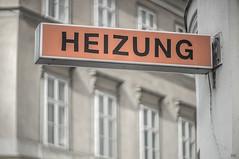 self-made (*altglas*) Tags: heizung heating werbung schild wien vienna vintage advertising diy