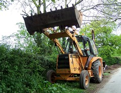 Digger A Case History (ERIK THE CAT Struggling to keep up) Tags: littleheath staffordshire vehicles digger case