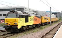 Testing time at Cambridge . (AndrewHA's) Tags: cambridgeshire cambridge railway station network rail test train colas class 67 diesel loco locomotive 67023 1q06