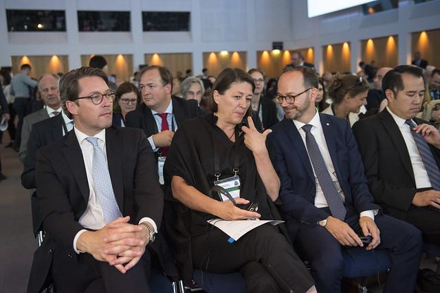 Andreas Scheuer, Violeta Bulc, Tomas Eneroth and Derek Kan in attendance