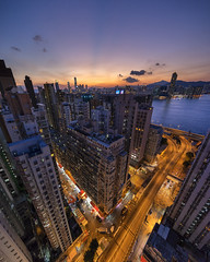 Twilight (mikemikecat) Tags: twilight northpoint hongkong a7r nostalgia house mikemikecat architecture sony stacked housing pattern 建築 建築物 城市 天際線 戶外 block hong kong street 夜景 香港 建築大樓 vintage 建築結構 structures 圖案 building public symmetries wide lens emount 摩天大廈 lookup glassball voigtlander heliarhyper 10mm f56 urban urbanscape 天空 sunset dusk