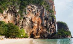 The Cliffs of Phang Nga (TheDailyNathan) Tags: processed phang nga bay andamansea phangnga rayavadee thailand thai winter 2016 december cliffs limestone beach see caves tropical coast krabi railay raileh tonsai longtail