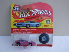 Hot Wheels 25th Anniversary Redline Silhouette Metallic Hot Pink Mint & Carded (beetle2001cybergreen) Tags: hot wheels 25th anniversary redline silhouette metallic pink mint carded