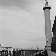 Sjömanstornet (rotabaga) Tags: sverige sweden svartvitt göteborg gothenburg blackandwhite bw bwfp mediumformat mellanformat 120 6x6 lomo lomography lubitel166 twinlens