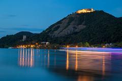 Visegrád (GYU foto) Tags: visegrád dunakanyar danube castle long shutter blue hill water hungary reflection night hour