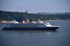 Disney Wonder cruise ship departs Vancouver (D70) Tags: disney wonder cruise ship departs vancouver 141365 sailing past stanley park nikon d750 28300mm f3556 ƒ56 1600mm 1500 on alaska sailboat harbour