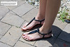 Wandered Too Close (Red Neptune) Tags: giantess gts shrunkenman shrunkenmale feet sandals sm