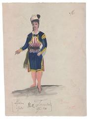 Toreador kostume (Rigsarkivet - Danish National Archives) Tags: costumes drawing theatre aquarel teater kostumer kostumetegninger