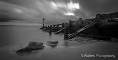 Seaton Sluice (sidrog28) Tags: barrier black white bw newcastle northeast northumberland sea north rocks morning long exposure
