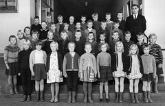 Class photo (theirhistory) Tags: boy girl child children kid school group class form pupils students teacher jumper trousers shoes dress skirt wellies rubberboots