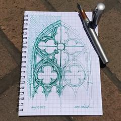 gothic window detail (schunky_monkey) Tags: balance symmetry proportion illustration art penandink ink pen fountainpen drawing draw sketchbook sketching sketch detail architecture window gothic