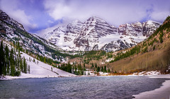 Maroon Bells (Never Forfeit By JC Clemens) Tags: maroonbells aspen colorado 14ers mountains lake water tree snow landscape landmark nikon d610 tamron travel hiking lightroom panorama park national clouds spring