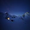 Cabane du Mountet (twoeye) Tags: cabin glacier night milkyway stars blue