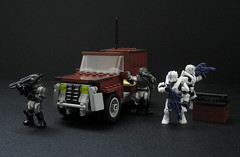 The 4S-Puma Jeep (full view) (JellyBeanie81) Tags: halo lego megabloks jeep spartan unsc marine military wetworks