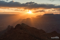 Between Sunbeams (kevin-palmer) Tags: grandcanyon grandcanyonnationalpark nationalpark arizona april spring nikond750 desertview evening sunset dusk color colorful gold golden yellow crepuscular rays sunbeams hdr sun clouds tamron2470mmf28 angelsgate