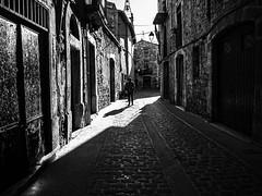 Streets and shadows... (muntsa-joan-BW) Tags: blackandwhite bw bnw street streetphoto streetphotography shadows calle moià catalonia city ciudad