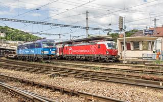 383 008 und 105 in Bratislava (8.5.18)
