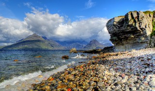 The Cuillins from Elgol, Isle of Skye, Highland, Scotland, UK