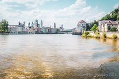 Passau, View from the river Danube, Bavaria, Germany #1 (AnjaIrene_S.F.) Tags: passau bavaria germany river fluss donau danube