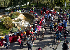 Bike to Work Day 2018 at Oracle Corporation (Michael Layefsky) Tags: biketowork 2018 oracle bike bicycle siliconvalley aerial photograph redwoodshores california poleaerialphotograph pap commute