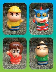 Crayon Shin-chan (The Moog Image Dump) Tags: クレヨンしんちゃん bandai 1992 toy figure crayon shinchan shin chan manga japan japanese yoshito usui