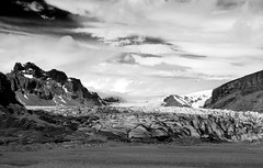 Skaftafell Majesty (Summit View) Tags: skaftafell iceland d7100 black white bw mountains glaciers snow ice travel nikon summitview sky high contrast majesty landscape ngc
