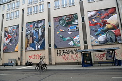 liqen (Luna Park) Tags: munich germany positivepropaganda streetart mural liqen trash environment graffiti tags lunapark