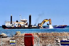 Goliath & Cornelis Lely - Harbour Extension Project - Aberdeen Scotland - 16/5/2018 (DanoAberdeen) Tags: cornelislely dredgers dredging goliath danoaberdeen 2018 candid amateur aberdeen psv gb uk abz abdn offshore oilships supplyships cargoships workboats tug tugboats ship vessels boats seafarers maritime grampian harbour seaport oilrigs construction engineering greyhopebay greyhoperoad niggbay torry greyhope girdleness buildingsite engineer dragados breakwater ahep aberdeenharbourboard dragadosuk trustport shipping scottishwater expansion project water docks quayside berth northeast scotland boat vessel sailor merchantnavy geotagged ships aberdeenharbour aberdeenscotland autumn summer winter spring scottish merchantships watercraft