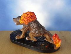 Hellhound-Devil-Demon-Fiend-Painted-Miniature-03 (Dead Bard Miniatures) Tags: painted pathfinder ralpartha reaper chainmail chronoscope miniature dungeons dragons dd dnd warhammer wotc