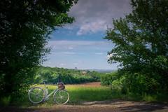 view on Le Perrier (Smart Public Space) Tags: cyclotourisme vintagebicycle bicycle velo bicicleta bici fiets fahrrad cykel sykkel 自転車 myfeatureshoot cyclinglife randonneur frenchbicycle bicyclette zecorreze fujifilm fujifilmxseries correze