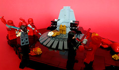 "Star Wars Episode VIII - The Last Jedi - ""Fulfill your destiny! (KevFett2011) Tags: starwars kevfett2011 episode viii the last jedi snoke supreme leader kylo ren rey battle praetorian guard death lego bricks build interior star destroyer lightsaber hobby art artist photography photostream 2018 edit"