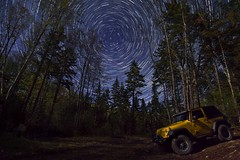 Trail Trails (aj2barber) Tags: jk wrangler yellowjeep jeepin jeeping nikond7200 overland 4x4 offroad wheeling outdoors exploration explore vehicle detonator trail adventure vermont 2doorjeep wranglerjk yellow jeepwranglerx detonatoryellow lifted andrewbarberjk andrewbarber wood forest woods road dirt trees sky grass stars startrails milkyway mountains pines