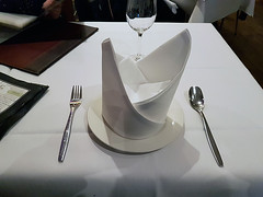 The Crown (Kombizz) Tags: 192518 kombizz thaicrystal thaicrystalrestaurant westowhill crystalpalace se19 2018 restaurant mobilephonetaking mobilephonecapture thaifood spoon fork placesetting napkinfolding thecrown nopsbatchresizing