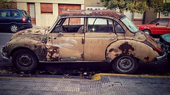 Forgotten-01 (MFPolako) Tags: bahiablanca argentina ciudad bahiense barrio highcontrast photography urbex discarded abandoned abandon forgotten decay urbandecay old viejo garbage contrast restos remains bahía blanca oxido rusty rust urbanexploration antique car antiguo auto coche street calle neglected city outside parking wheels grunge