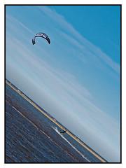 kite surfer (Mallybee) Tags: fitties 425mmf17 panasonic mallybee beach sea surfer kite m43 g9 dcg9 lumix cleethorpes