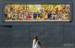 Admiring Rivera (Jerzy Orzechowski) Tags: people murals art mexicocity anya mexico family